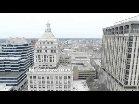 Downtown Peoria IL Birds Eye View