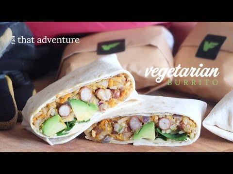 Vegetarian Sweet Potato & Bean Burrito Recipe