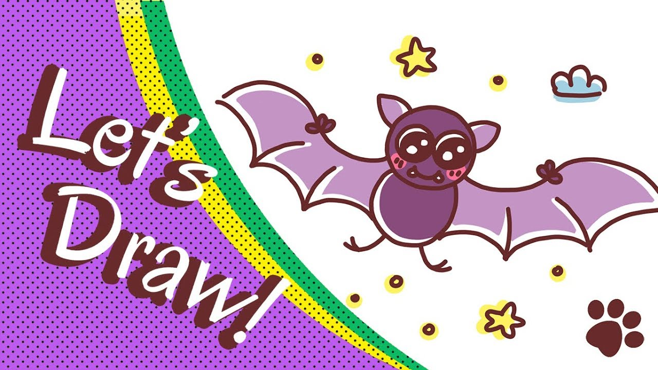 Cute halloween bat drawings