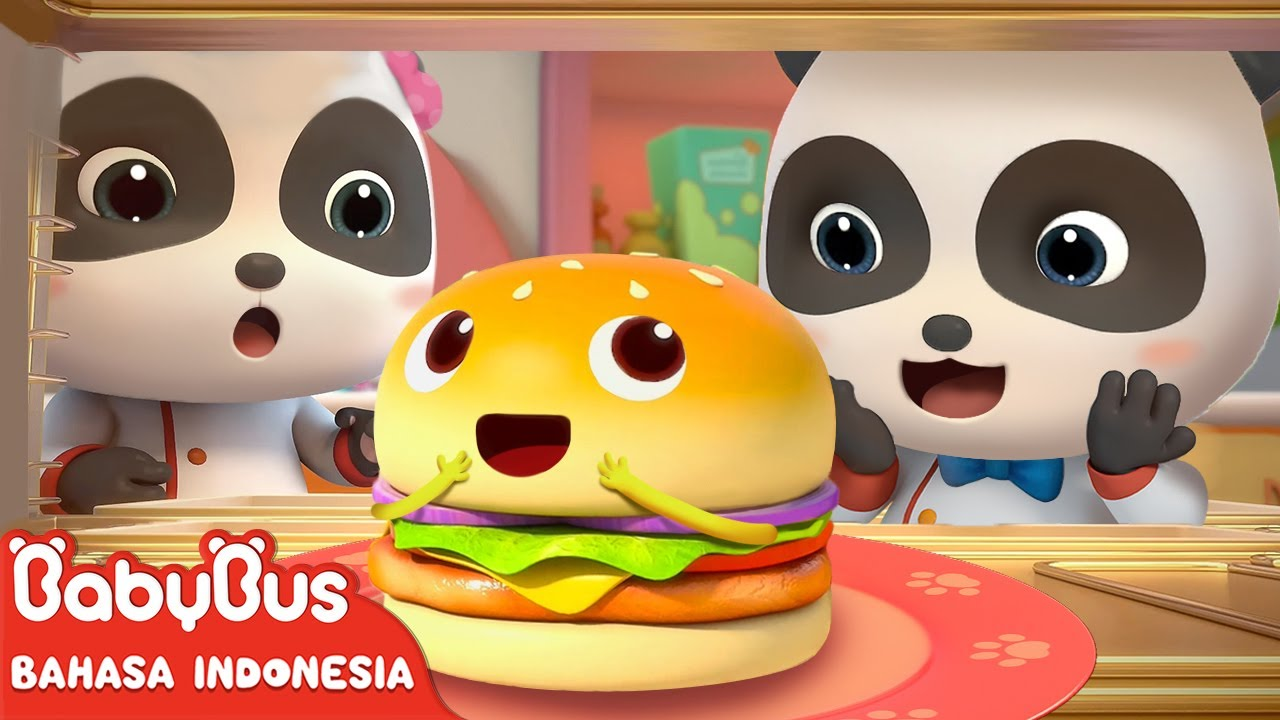 Bagaimana Kita Membuat Hamburger Yang Enak? | Lagu Anak Indonesia | BabyBus Bahasa Indonesia