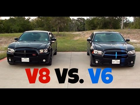 Dodge Charger R/T vs. Dodge Charger SXT (V8 vs. V6) Racing