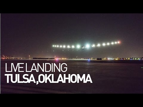 LEG 11 LIVE: Solar Impulse Airplane - Landing in Tulsa
