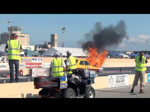 Gladiator Escort Burning Accident Drag Race