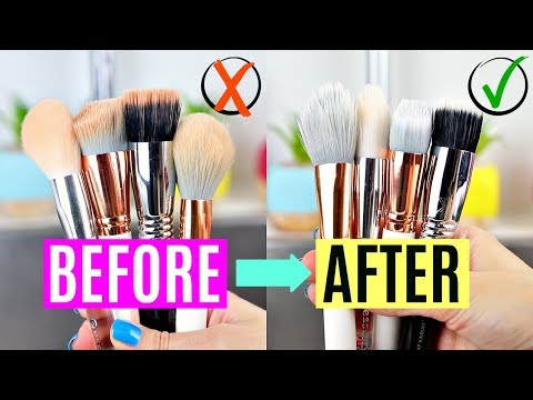 How To Wash Makeup Brushes in 2019 (Bonus: Spot Cleaning Method!) | Vasilikis Beauty Tips