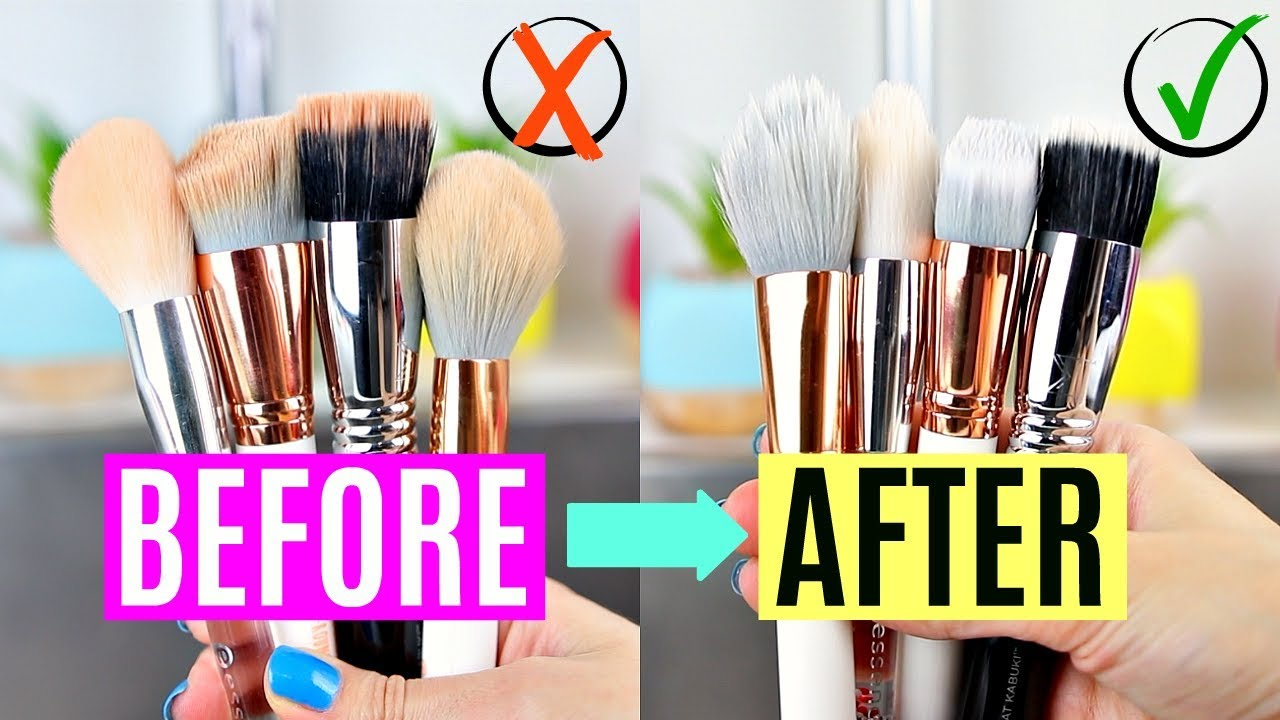 How To Wash Makeup Brushes in 8 (Bonus: Spot Cleaning Method!)   Vasilikis Beauty Tips