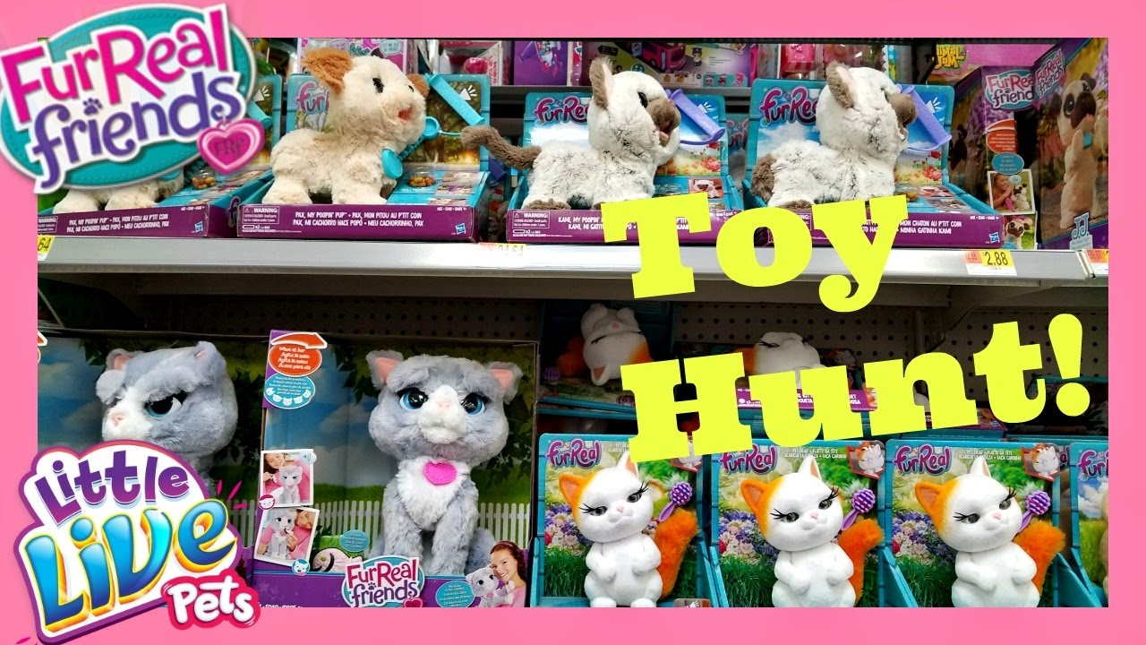 Fur Real Friends, Little Live Pets, TOY HUNT! Walmart toys 2017