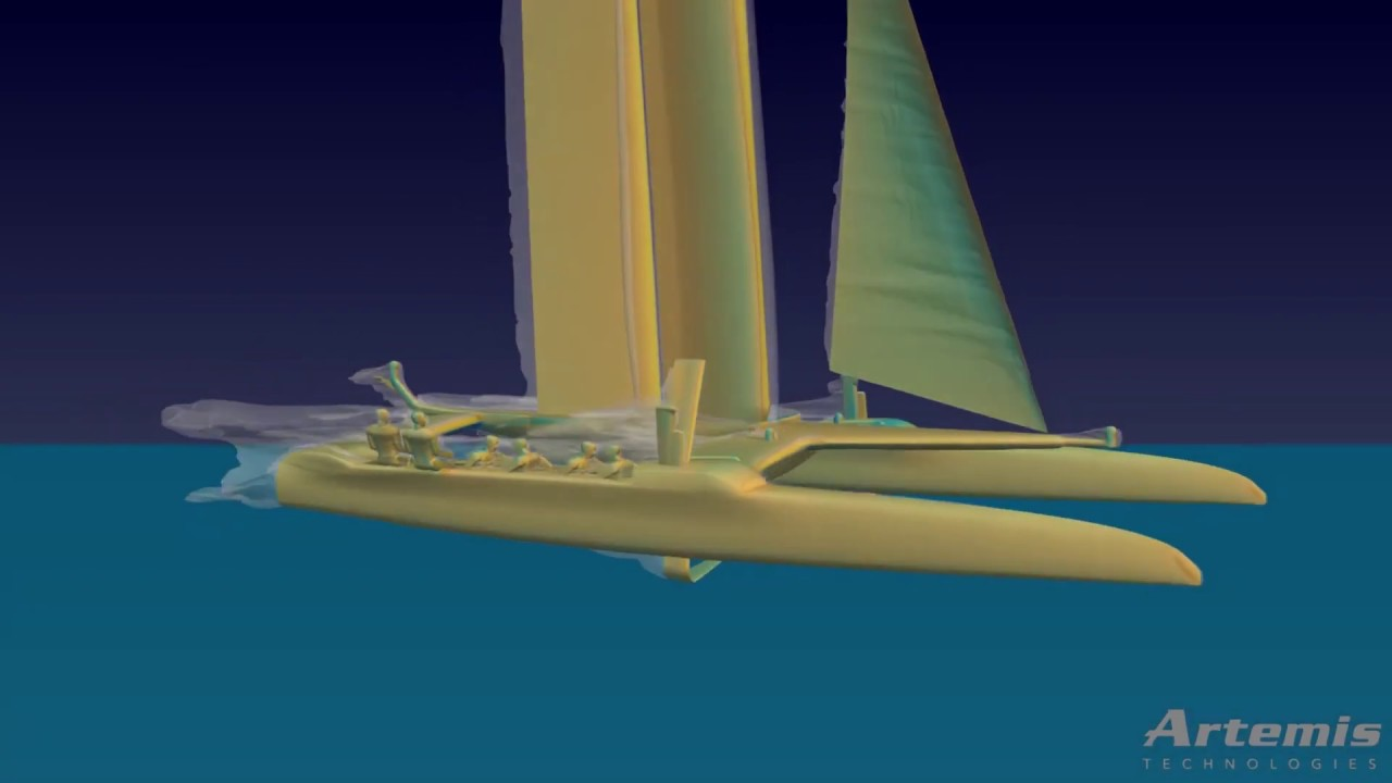 Aerodynamic Simulation of AC50 Yacht