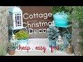 Cottage Christmas Decor, holiday entrance ideas, beach cottage decorating, porch decor