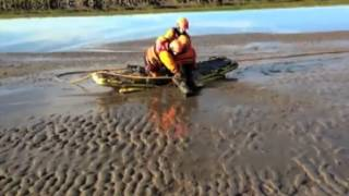 Bay Search and Rescue quicksand demonstration