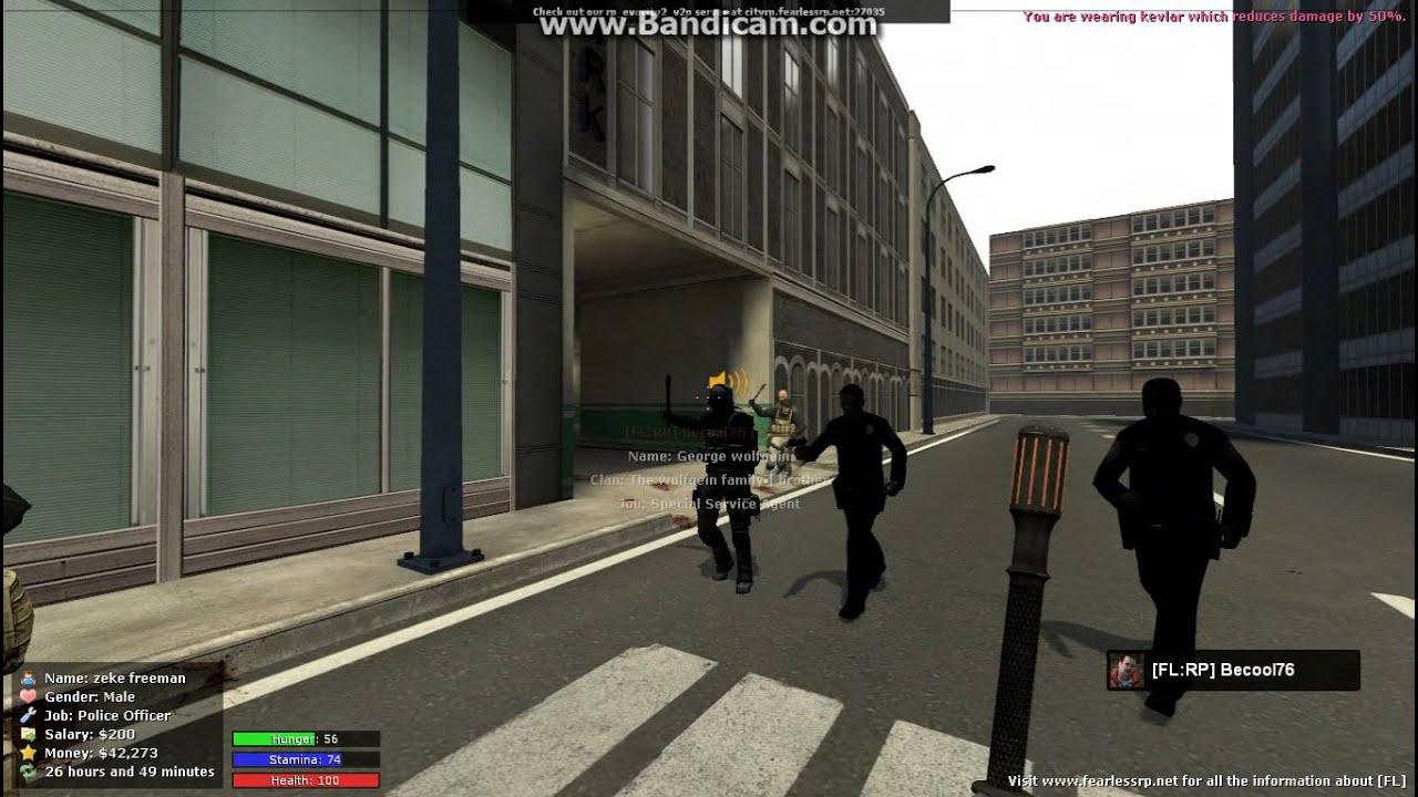 Garrys mod city rp big car accident