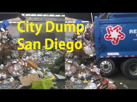 Dump Waste Landfill Video City Garbage Management Trash Disposal Run Truckload