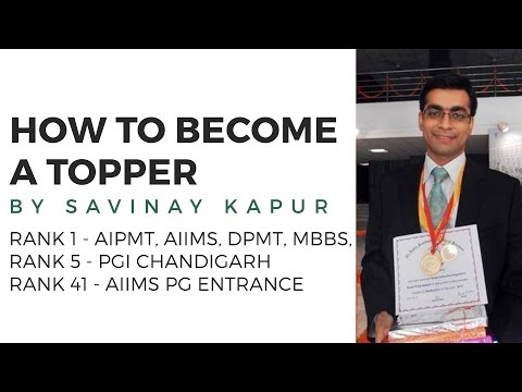 how to become topper of the