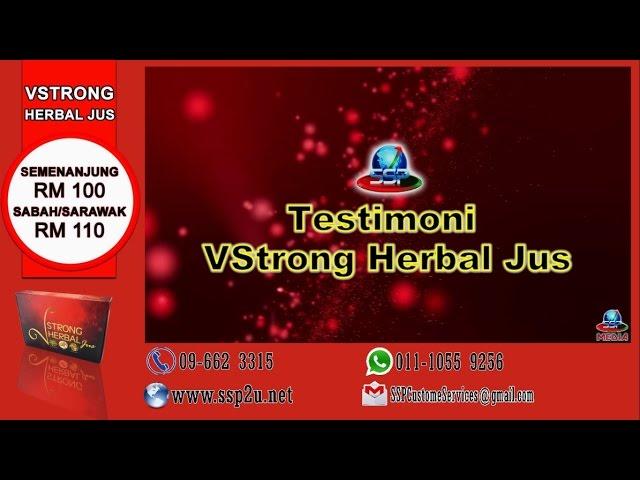 Testimoni SSP 1 (VStrong Herbal Jus)