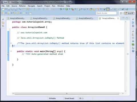 Java.util.ArrayList.indexOf Method -  Java.util.ArrayList.isEmpty Method
