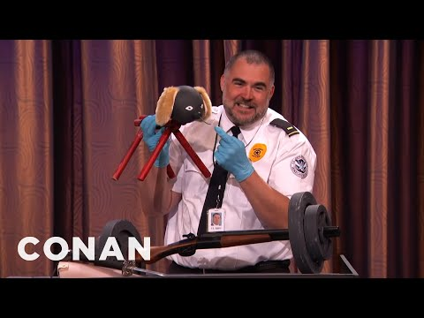 How The TSA Let Through So Many Explosives  - CONAN on TBS