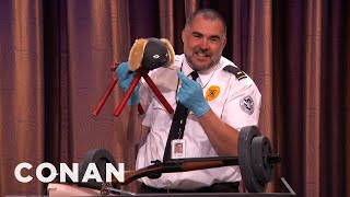 How The TSA Let Through So Many Explosives  - CONAN on TBS