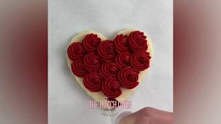 How To Make Chocolate Rainbow Heart Cookies 💖