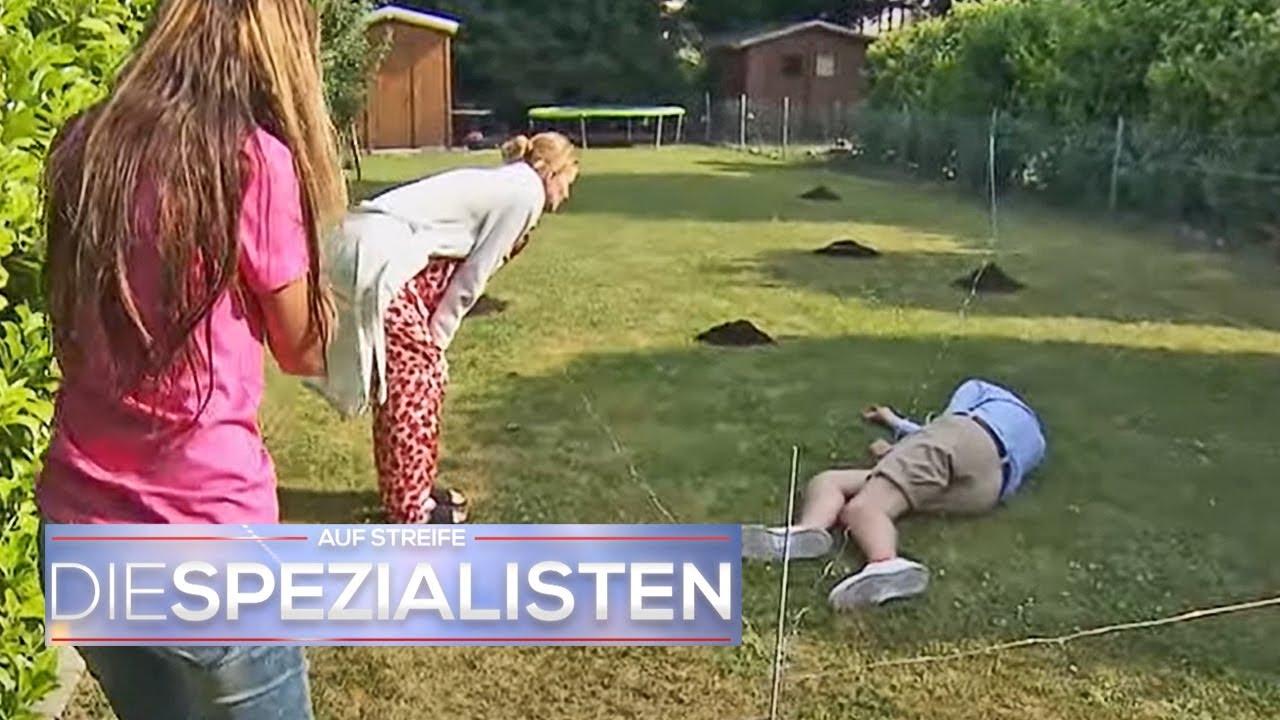Garten unter Strom gesetzt! Fabian bewusstlos in Maulwurffalle gefangen!   Die Spezialisten   SAT.1