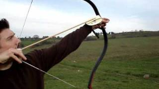 Flight archery training with Turkish overdraw ''siper''