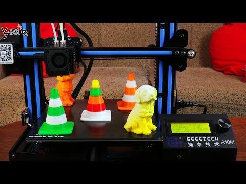 Geeetech A10M 3D printer koji stampa vise boja!!