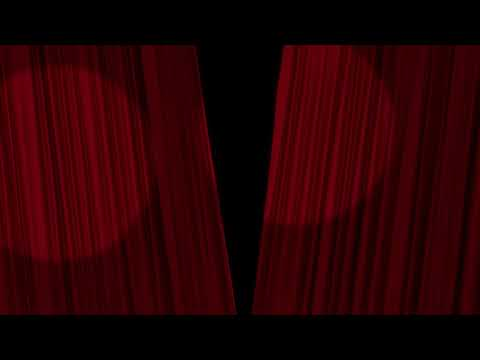 PLEX - FREE 4K & HD Stock Footage & Animation. Stage Curtains Opening with Alpha Matte. No Copyright
