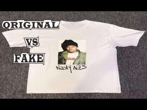 a1ffba816749 Supreme Nasty Nas Photo T-shirt Original & Fake - YouTube