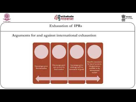 Exhaustion of IPRs
