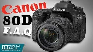 Canon EOS 80D | FAQ