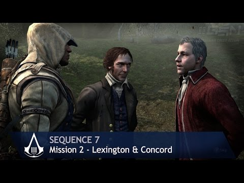 Assassin's Creed 3 - Sequence 7 - Mission 2 - Lexington & Concord (100% Sync)