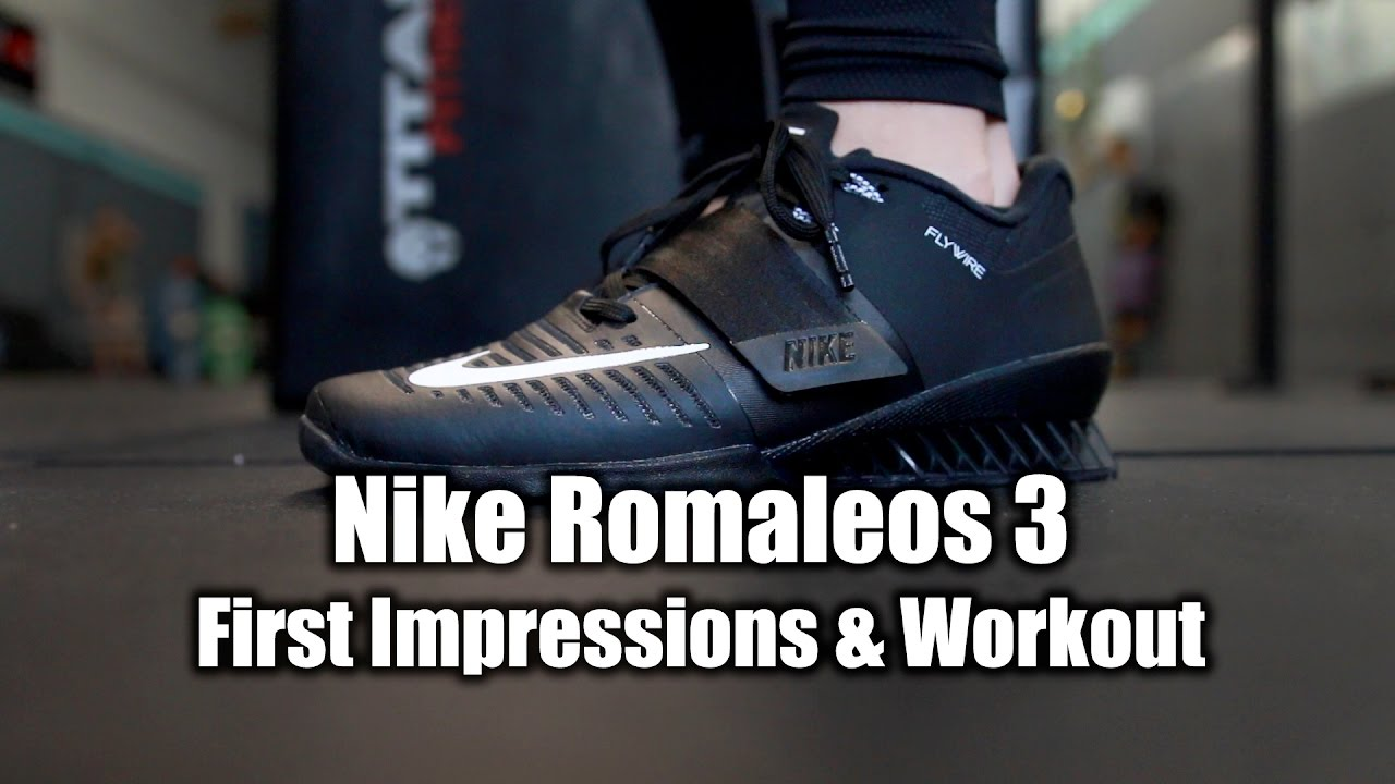 8a532a49415c Nike Romaleos 3 Info - First Impressions   Workout! - YouTube