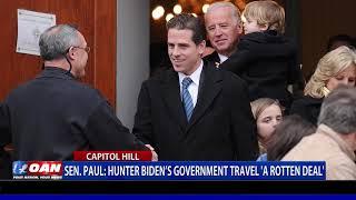 Sen. Paul: Hunter Biden's government travel 'a rotten deal'