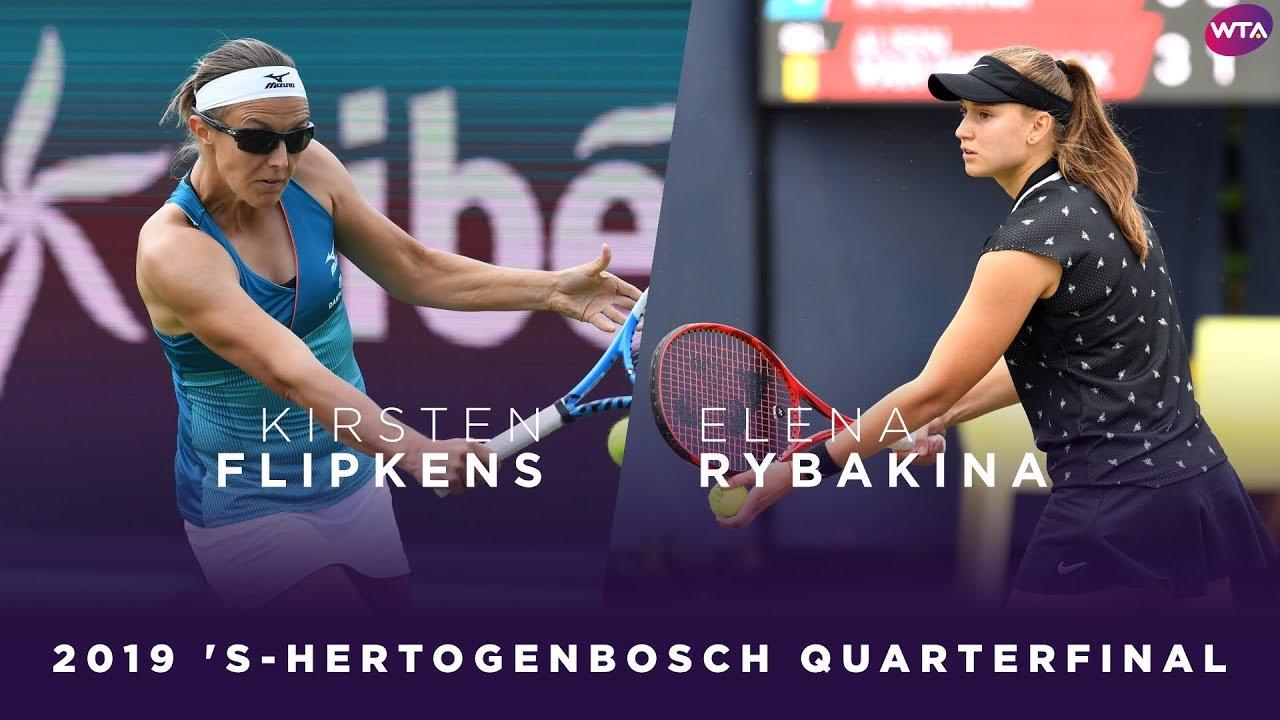 Kirsten Flipkens vs. Elena Rybakina | 2019 Libema Open Quarterfinal | WTA Highlights