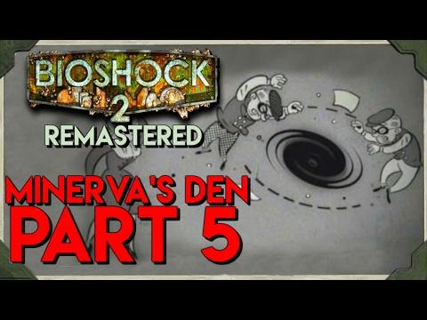 Bioshock 2 Remastered Minerva's Den PART 5 GRAVITY WELL PLASMID!!