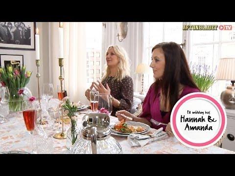 Ann Söderlund och Sanna Lundell i På middag hos Hannah & Amanda