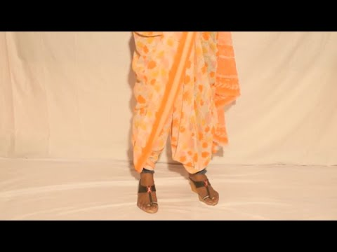 How to wear Dhoti style Saree in 2 different way 2019-Maharashtriaan Style Saree Draping Video