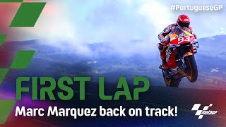 Marc Marquez completes his comeback with first lap | 2021 #PortugueseGP