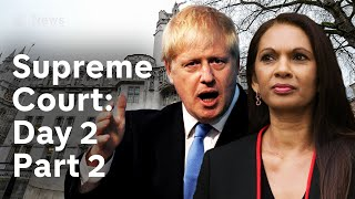 Supreme Court parliament suspension hearing: Day 2 LIVE | Brexit