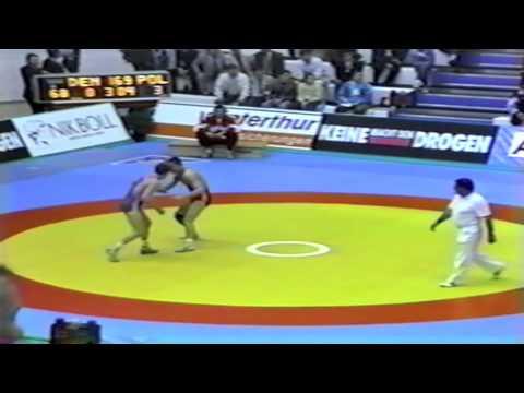 1991 Senior European Greco Championships: 68 kg John Vestergaard (DEN) vs. Poland