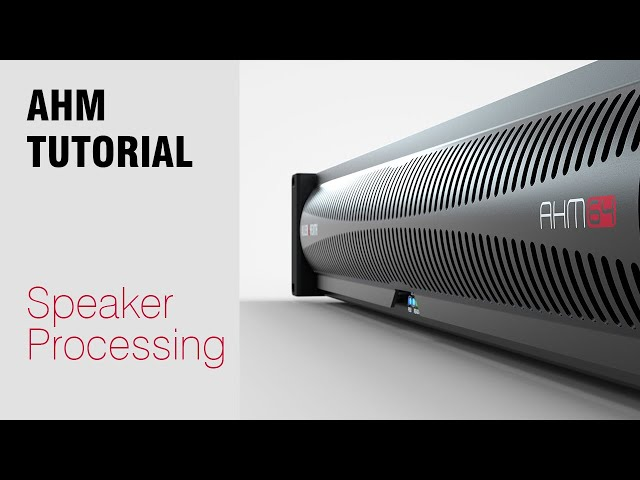 AHM System Manager - Speaker Processing