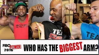 Who has the biggest arm at FIBO POWER 2016?