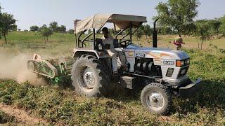 Eicher 485 Tractor PTO Power जमीन से मूंगफली निकालने वाला ट्रैक्टर मशीन |Groundnut Extractor tractor