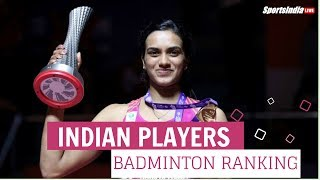 Indian Players Badminton World Ranking | 29 Dec 2018 |  Srikanth Kidambi | PV Sindhu | Saina Nehwal