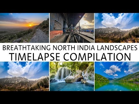 Landscapes of North India | Timelapse Compilation | Wandering Minds