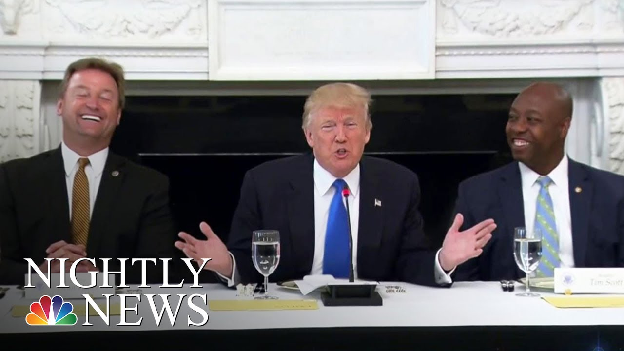 health-care-pres-donald-trump-hosts-gop-senators-at-white-house-nbc-nightly-news