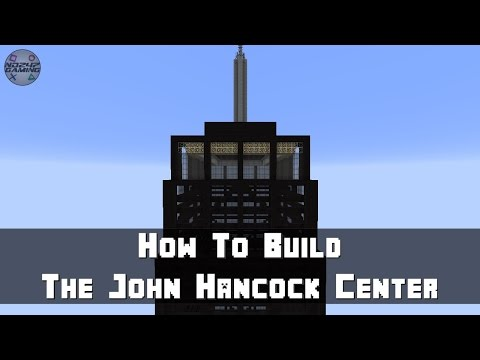Minecraft: How To Build The John Hancock Center (Skyscraper) Part 5 - Glass