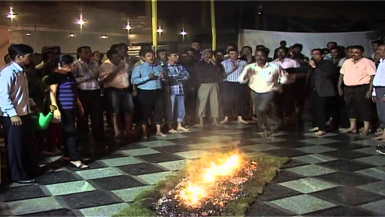 Fire walking training with Fire walk expert Mitesh Khatri