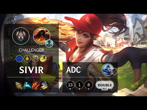 Sivir ADC vs Ashe - EUW Challenger Patch 10.14