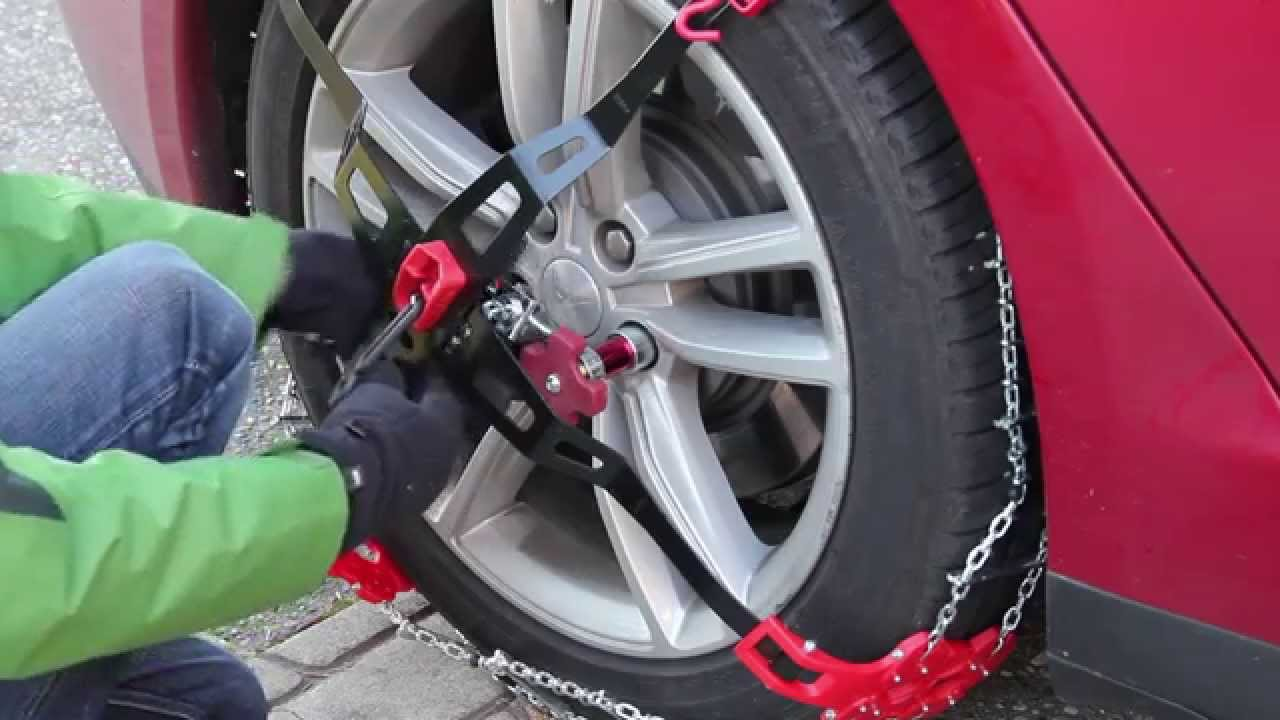 How To Install Snow Chains On A Tesla Model S Youtube