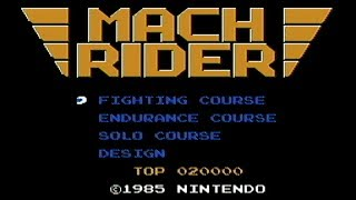 Mach Rider - NES Gameplay