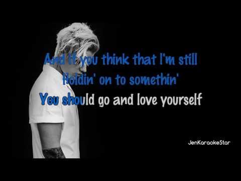 Justin Bieber - Love Yourself [Karaoke/Instrumental]